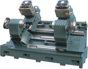 DSTT-60 & DSPTT Mill-Turn Dual Spindle/Twin Turret CNC Turning Center: Stactic Tool or Power Tool Turrets