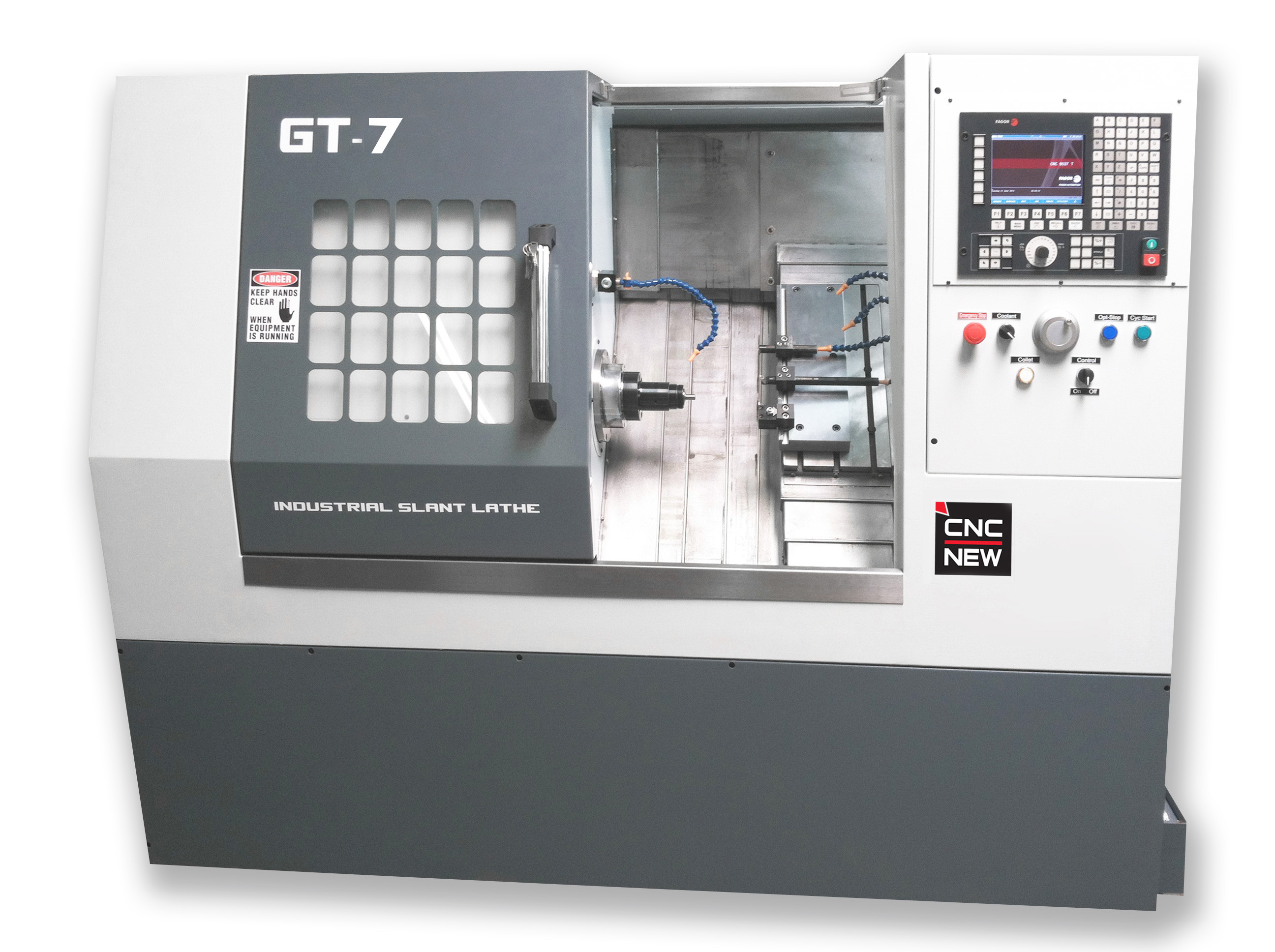 GT-7-RB08 Gang Tool Lathe with Robotic Arm Loader