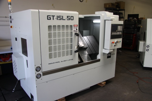 GT-15 Industrial Slant Gang Tool Lathe, the affordable Swiss type driven live tool machine tool option.