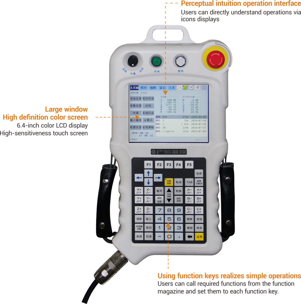 GSK-RC Robot Controller & Hand Held Teaching Pendent